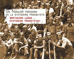 """Portada del Catálogo """"Los trabajos forzosos en la dictadura franquista"""""""